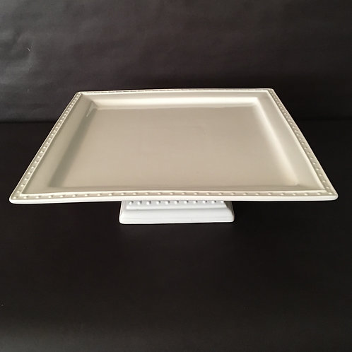 Square White Dot Cake Stand