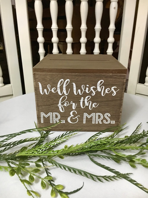 Well Wishes for the Mr & Mrs Box