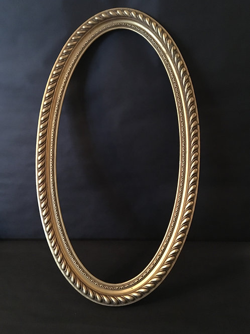 Gold Oval Photo Prop Frame