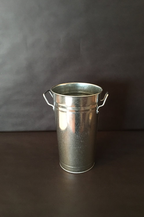 Large Tin Vase w/Handles