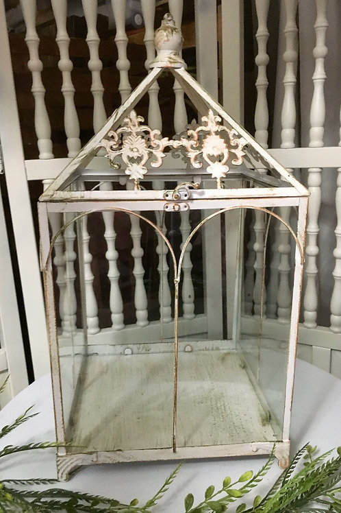 Antique White Terrarium
