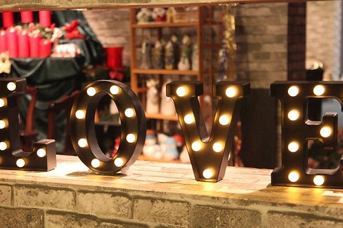 "Lighted Love 8"" Black"