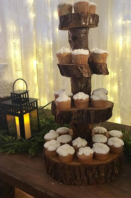 4-Tier Wood Cupcake/Dessert Stand