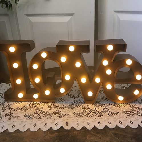 Rustic Lighted Love