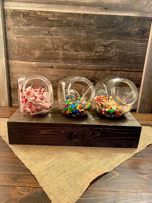 Candy/Cookie Jar w/silver lid Medium