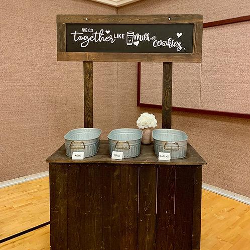 Dessert Display - Milk & Cookies