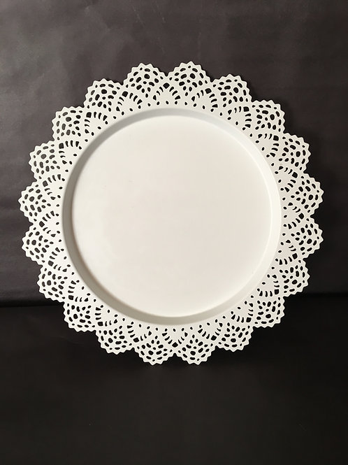 White Round Serving Dish