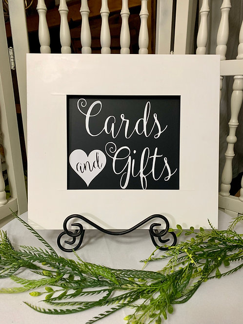 White Heart Cards & Gifts w/easel