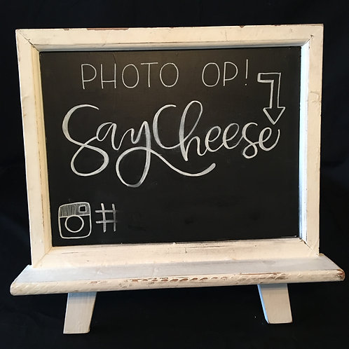 Photo Op Sign (Customize your hashtag)