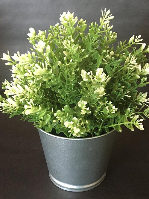 Small Faux Greenery Bush in Tin