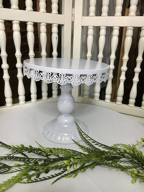 White metal dessert/cake stand