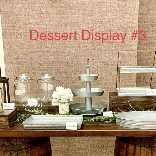 Dessert Display #3 Package Option