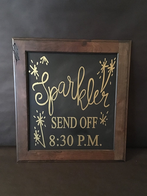 Gold Custom Time Sparkler Send Off Sign