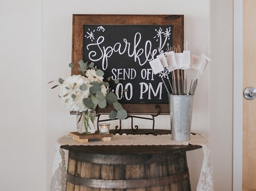 Customized Sparkler Send Off Sign/ Sparklers