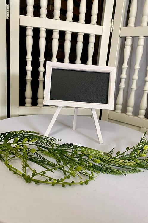 Shabby White Chalkboard Custom Vinyl