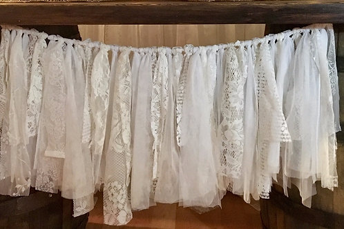 Shabby Chic Lace Banner