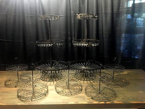 Black Metal Cupcake Set