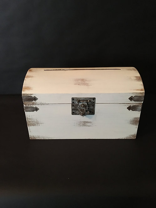 White Card Box w/Latch