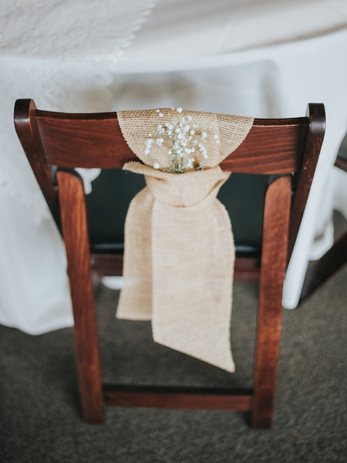 Burlap Chair Ties
