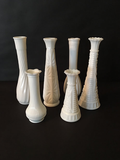 Milk White Vases
