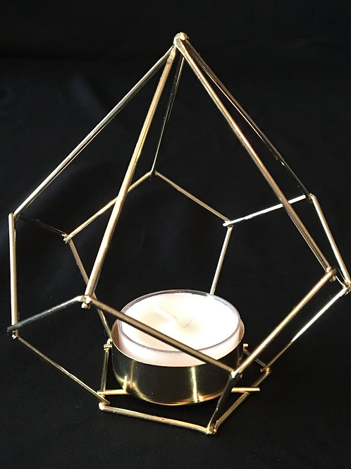 Geometric Gold Shapes/Tea Light