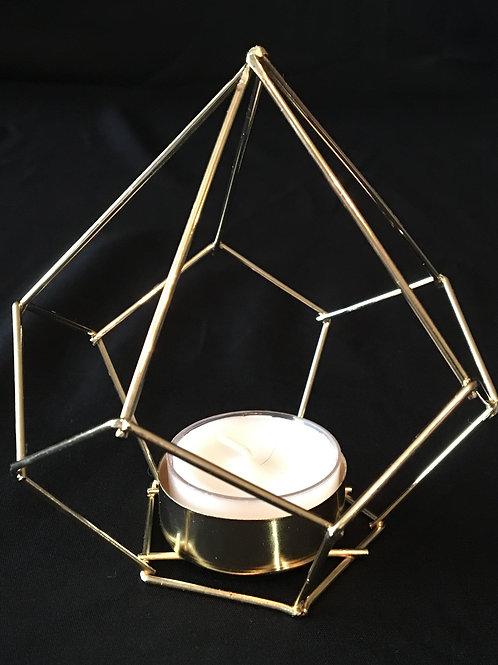Geometric Gold Shapes/Tea Light