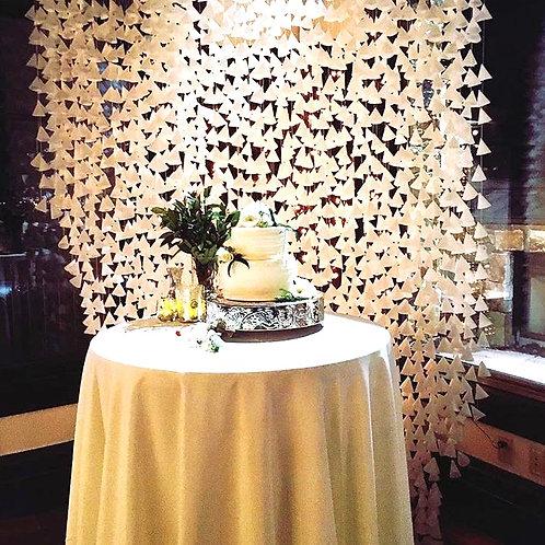 Wax Paper Cone Backdrop