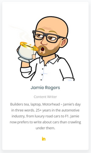 Jamie Rogers, automotive writer and consultant to the automotive industry