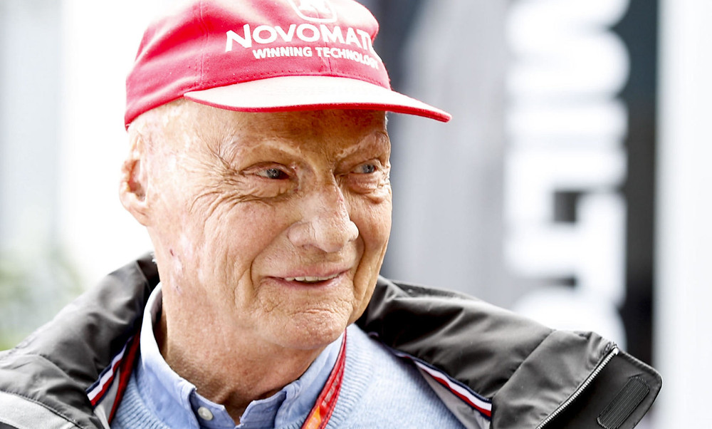 Niki lauda, the face of mercedes f1