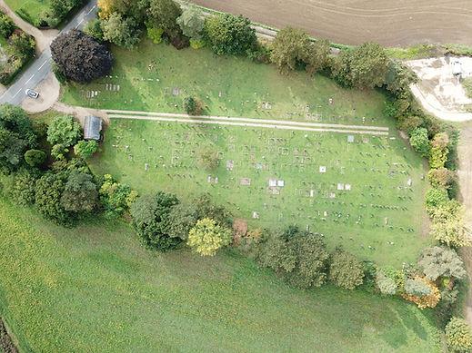 Aerial photo of Stradbroke Cemetery