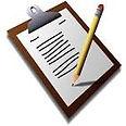 cartoon image of a clipboard