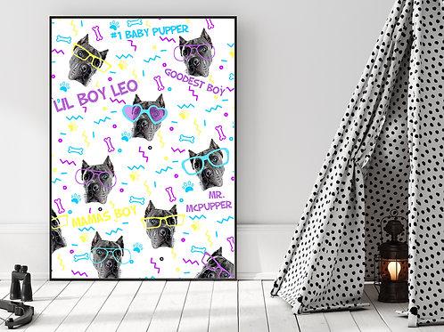 Silly Custom Pet Poster - Pattern (Frameless)