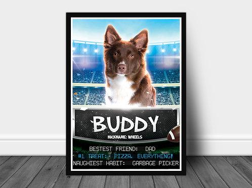 Custom Pet Sports Poster (Frameless)