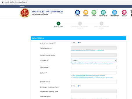 Central Government releases 4726 with pay scale of 19,900 - 92,300 for SSC chsl