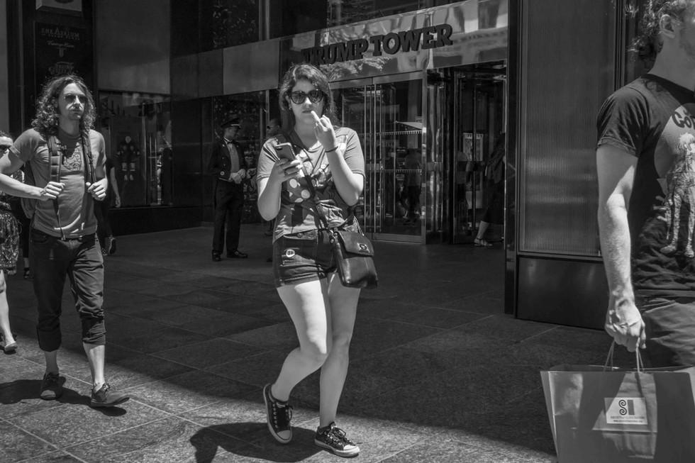 July 22, 2016. 'Selfie' 5th Avenue, New York.