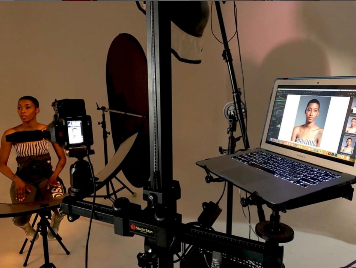 Ashley in the studio