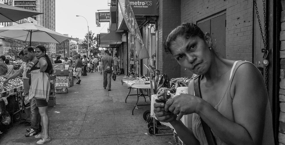 September 2, 2015. 180th Street & St Nicholas Avenue, Washington Heights, New York.