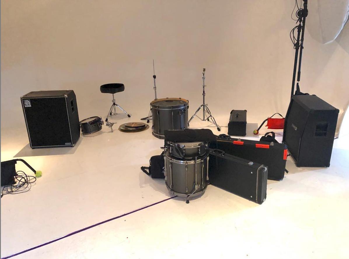 Music video, band equipment