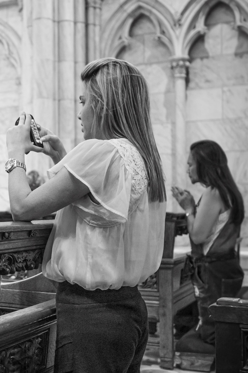 August 10, 2015. Saint Patrick's Cathedral, New York.