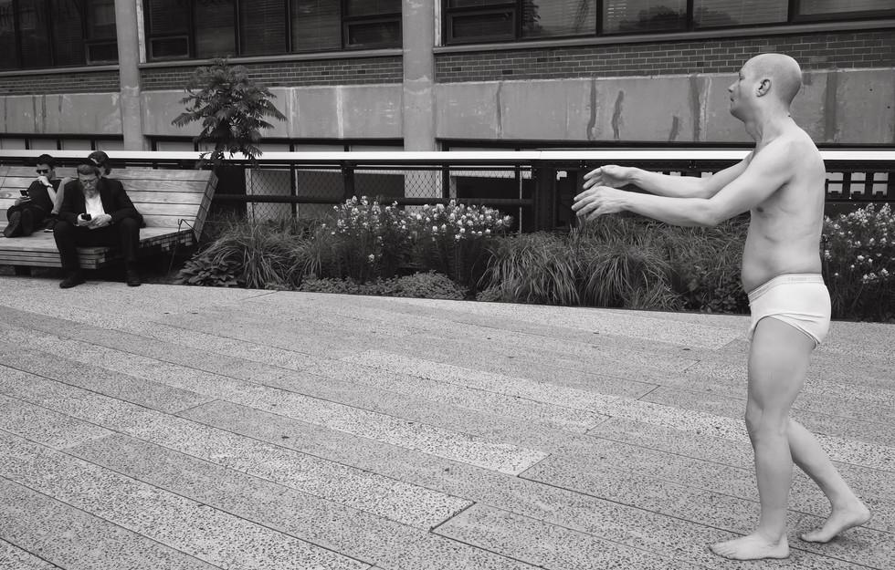 May 24, 2016. 'Sleepwalker' The High Line, New York City.