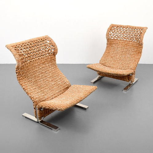 Pair of Marzio Checchi Lounge Chairs