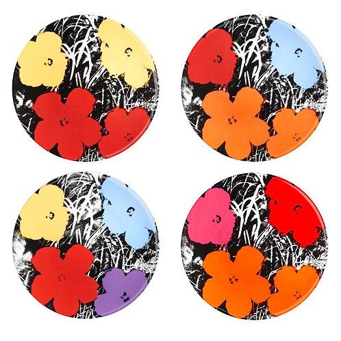 Flowers Plates, Set of 4