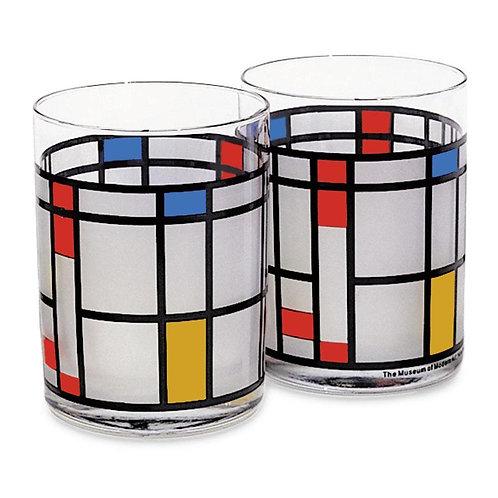 Piet Mondrian Tumblers