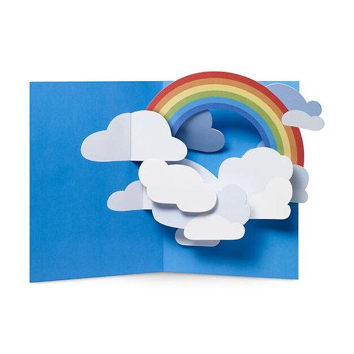 Rainbow Sky Pop-up Note Card