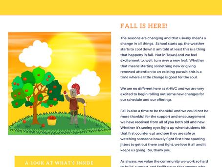 AHWG Fall 2021 Newsletter