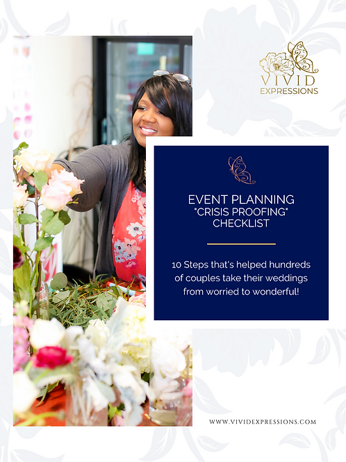 "FREE CHECKLIST: ""Crisis Proofing"" Your Wedding"
