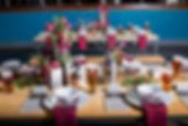 Wedding table centerpieces Design Vivid Expressions O'Connor Brewing Company