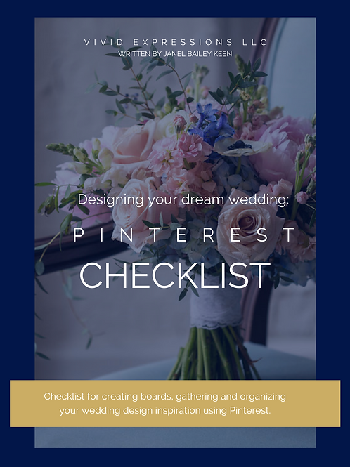 Checklist: Using Pinteret to design your Dream Wedding