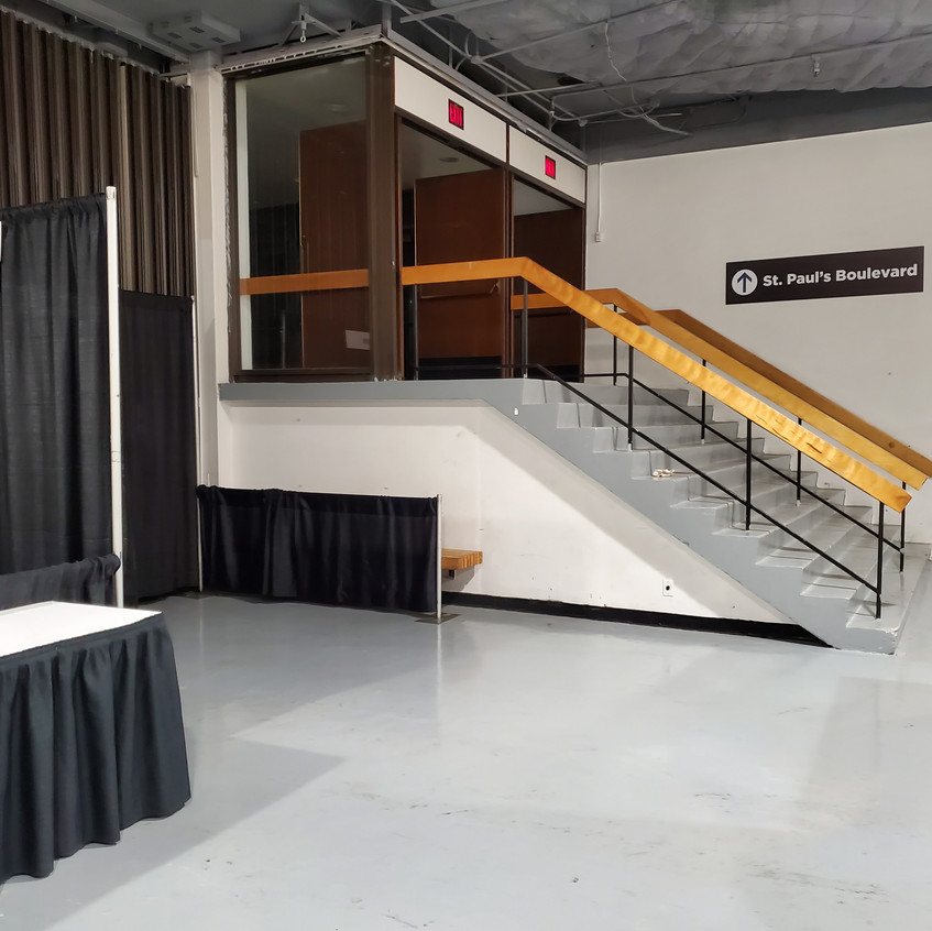 Before - booth space