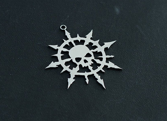 Star of Chaos Undivided with Skull pendant